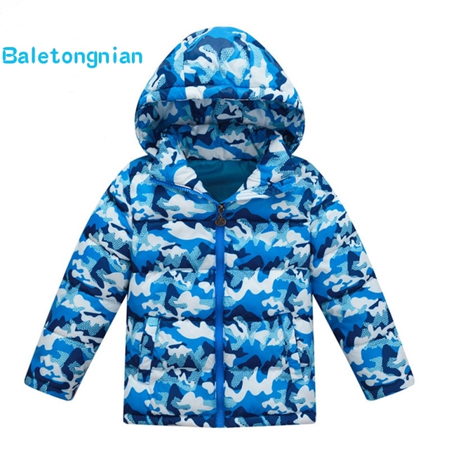 Cheap Unisex Winter Coat New Fashion Brand Children Camouflage Hooded Down & Parka Jacket Casual Girls & Boys Warm Clothes Outwears