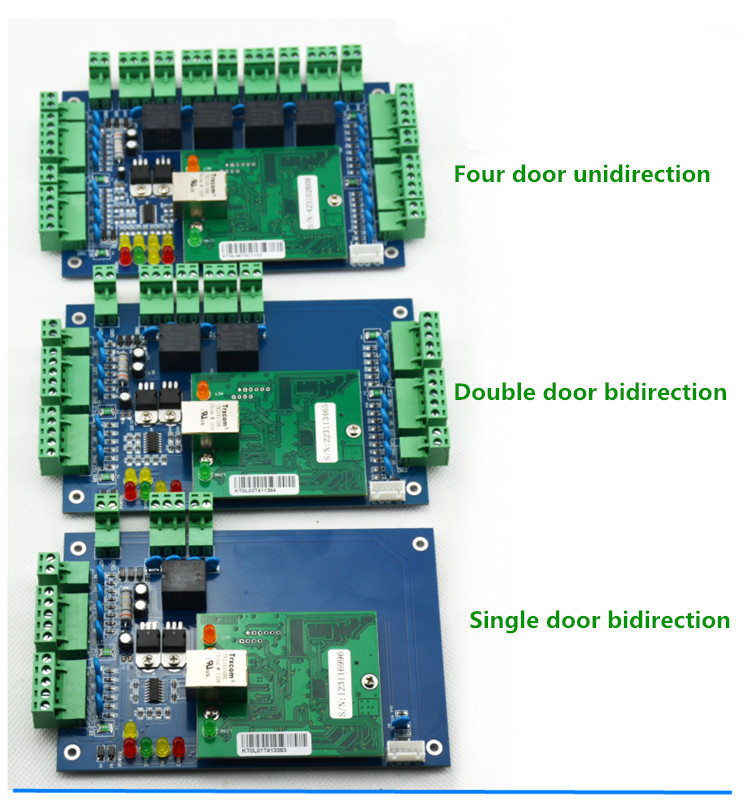 Four Door Unidirectional TCP/IP Wiegand Access Control Board RFID/NFC Door Access Controller+ Free Access Control Software