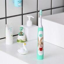 SOOCAS-brosse à dents électrique pour enfants, brosse à dents électrique sonique et étanche Ipx7, brosse à dents souple, charge sans fil, motif de dessin animé