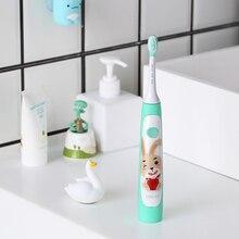 SOOCAS C1 Sonic elektrikli diş fırçası çocuklar için Ipx7 su geçirmez çocuk yumuşak diş fırçası kablosuz şarj karikatür desen