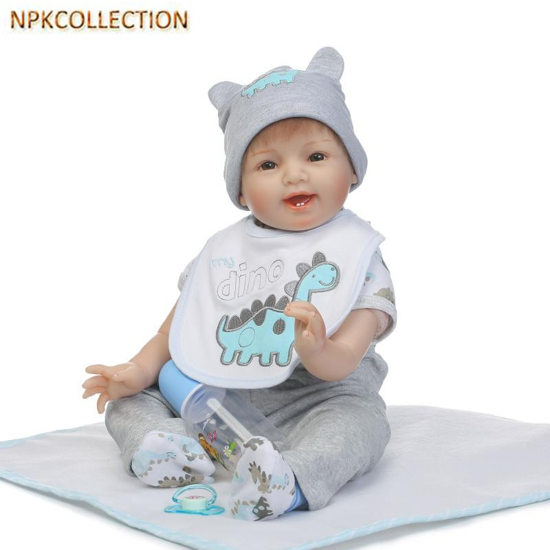 NPKCOLLECTION 50 CM Silicone Reborn Baby Doll Toys Lifelike Baby-Reborn Real Doll Child Birthday Christmas Gift Girls Brinquedos silicone reborn baby doll toy lifelike reborn baby dolls children birthday christmas gift toys for girls brinquedos with swaddle