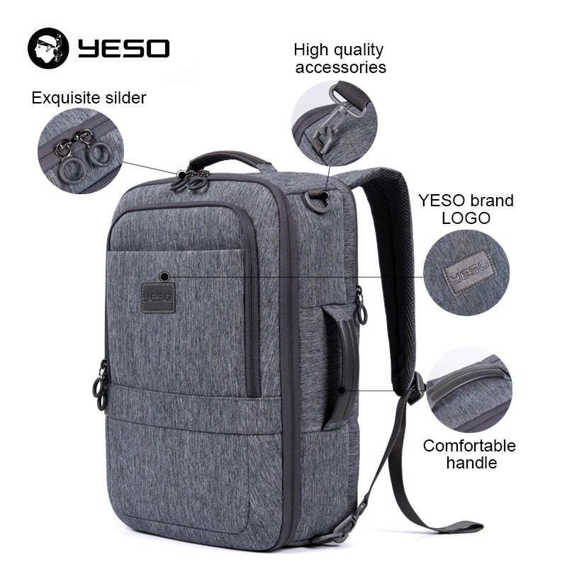 YESO Многофункциональный рюкзак с отделением для ноутбука для мужчин 2019 большой емкости Бизнес повседневные Рюкзаки противоугонные 17,3 дюймов компьютерный рюкзак для женщин
