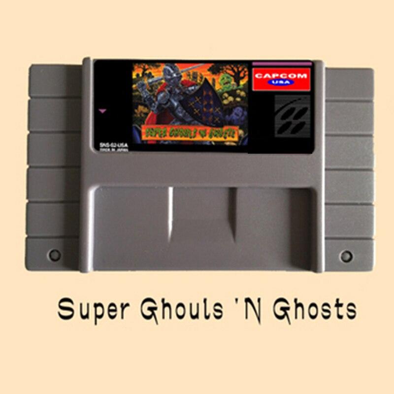 Super Ghouls 'n Ghosts usa versión 16 poco grande gris tarjeta de juego