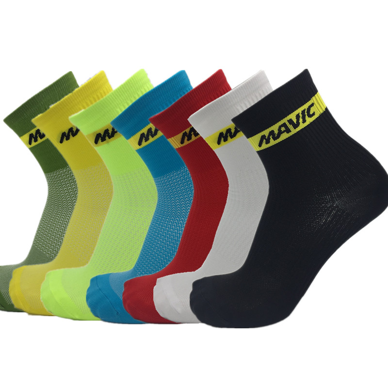 Blacks White Sports Cycling Socks Men Bike Socks Footwear calcetines ciclismo Outdoor Compression socks Good Quality