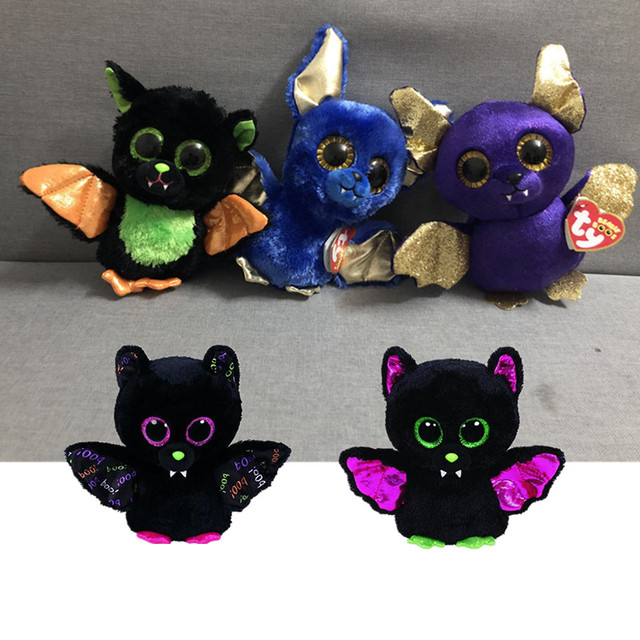 2018 Exclusive Ty Beanie Boos Big Eyes 15CM 5 Style Bat Plush Toy Doll  Kawaii Stuffed Animals Collection Lovely Children S Gifts bf8125a56b34