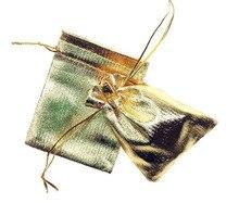 20 unids 9*12 cm bolso de lazo bolsas de mujer de la vendimia de oro para La Boda/Fiesta/de La Joyería/de la Navidad/bolsa de Envasado Bolsa de regalo hecho a mano diy