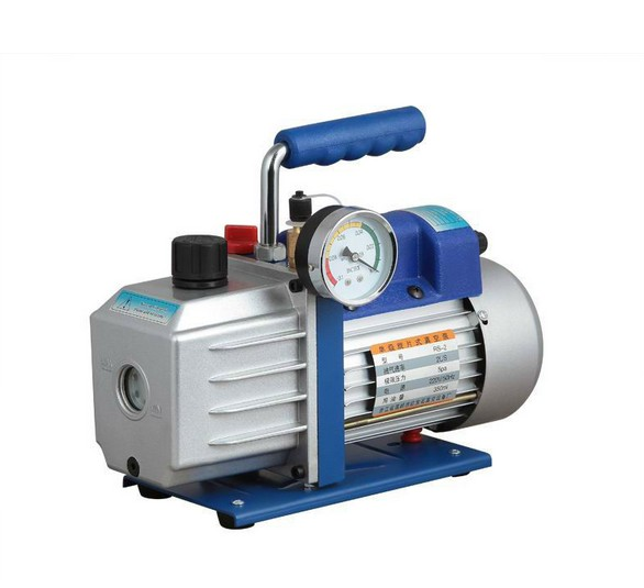 US $145 99  Two Stage AC Vacuum Pump Refrigeration Vacuum Pump Air  Conditioning at 4 5CFM + Precision Gauge HVAC R410a R134a R407C R22-in  Pumps from