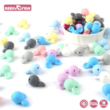 Keep&Grow 10pcs Mickey Baby Silicone Beads BPA Free Baby Tee