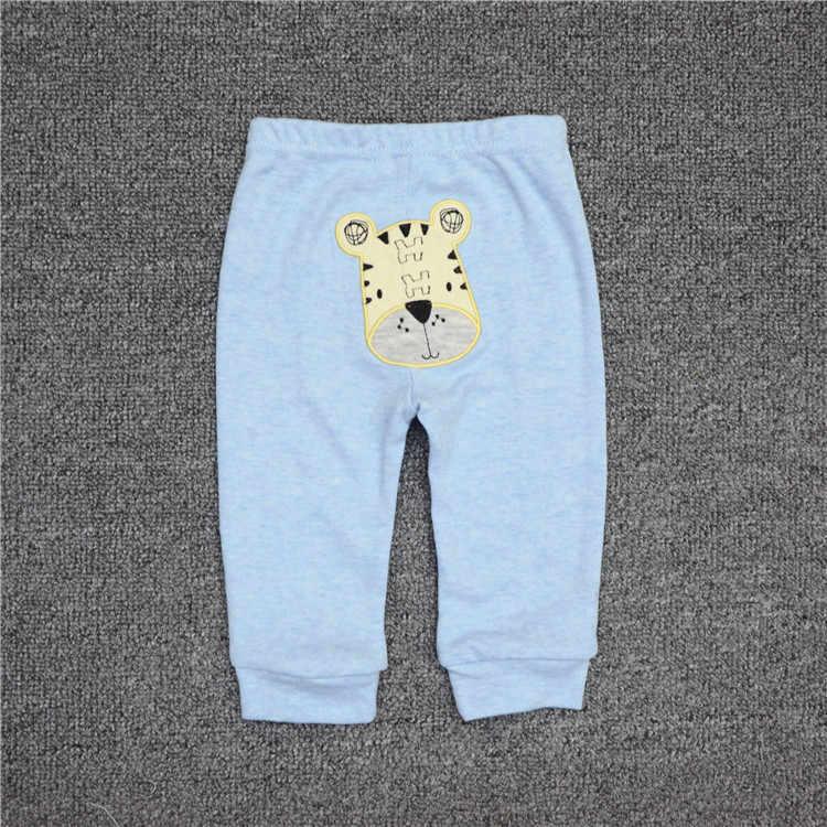 ขายส่ง 3/6 ชิ้น/ล็อตเด็กกางเกงผ้าฝ้ายฤดูใบไม้ร่วงสำหรับชายหญิงกลางความยาวเต็มกางเกงเด็ก