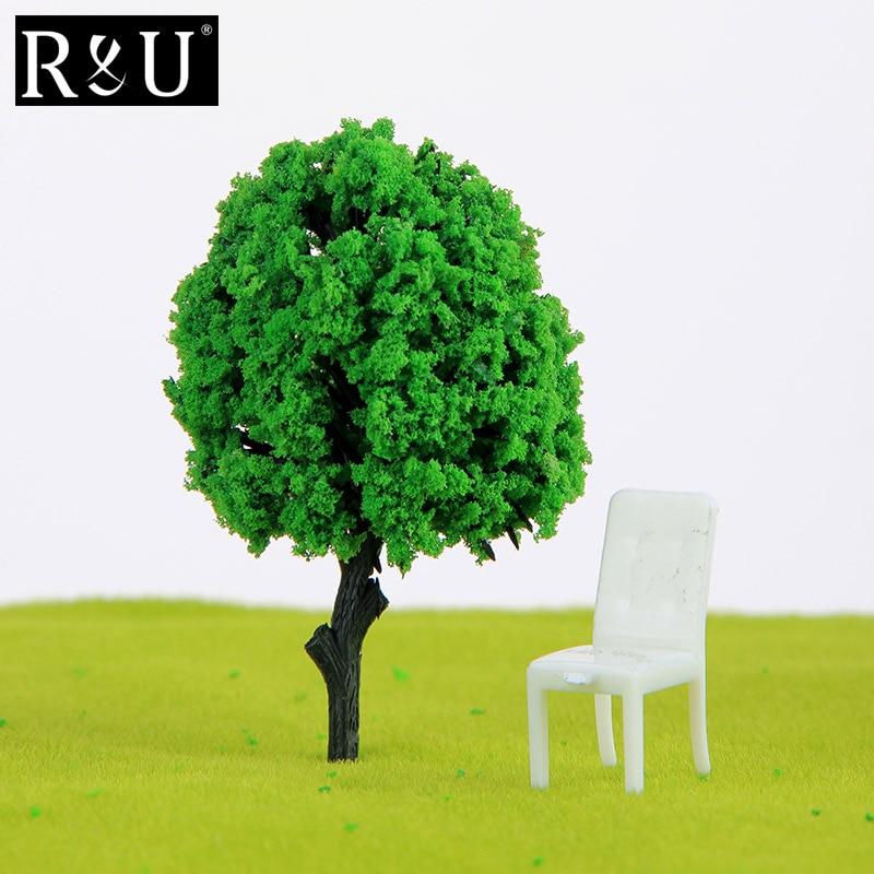 Model Fir Tree Train Plastic Trunks Set Scenery Landscape DIY 8cm Set of 10pcs