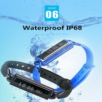 2017 Original SDB02 Smart Band With Mileage Waterproof IP68 Heart Rate Monitor Sleep Monitor Bracelet For