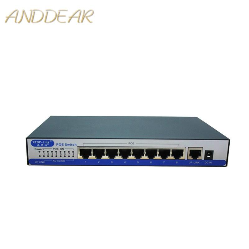 Commutateur poe gigabit H9 ports 100/1000 Mbps IEEE802.3af/à POE actif 8 ports 50v2. 3a pour 8 pièces 1080 P 2MP 3MP 4MP 5MP 6MP caméra ip HD