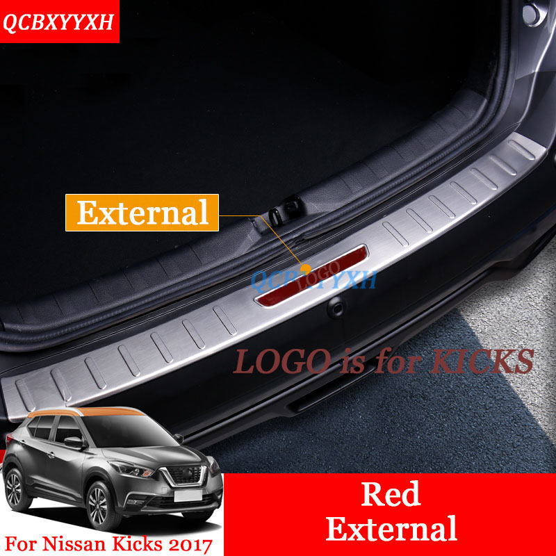 Stainless Steel Car Styling Internal External Scuff Plate/ Door Sill Threshold Trim Decoration Accessories For Nissan Kicks 2017 high quality 304 stainless steel internal external scuff plate door sill for 2017 volvo xc60 car styling