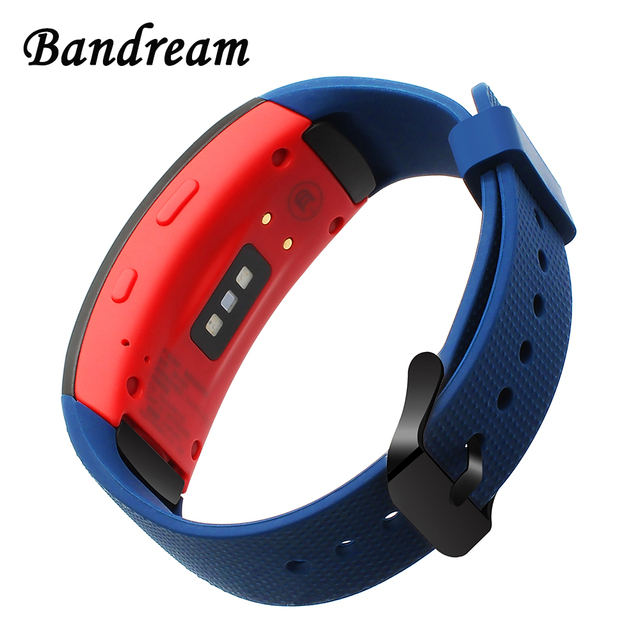 Upgraded Silicone Rubber Watch Band for Samsung Gear Fit 2 R360 / Fit2 Pro R365