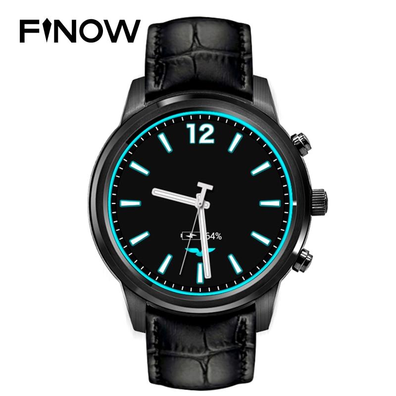 Top Verkauf Finow X5 plus X5 Air Smart Uhr Android 5.1 MTK6580 Ram 2 GB/Rom 16 GB Amoled Uhr PK KW88 LEM5/LES1 3G BT Phonewatch
