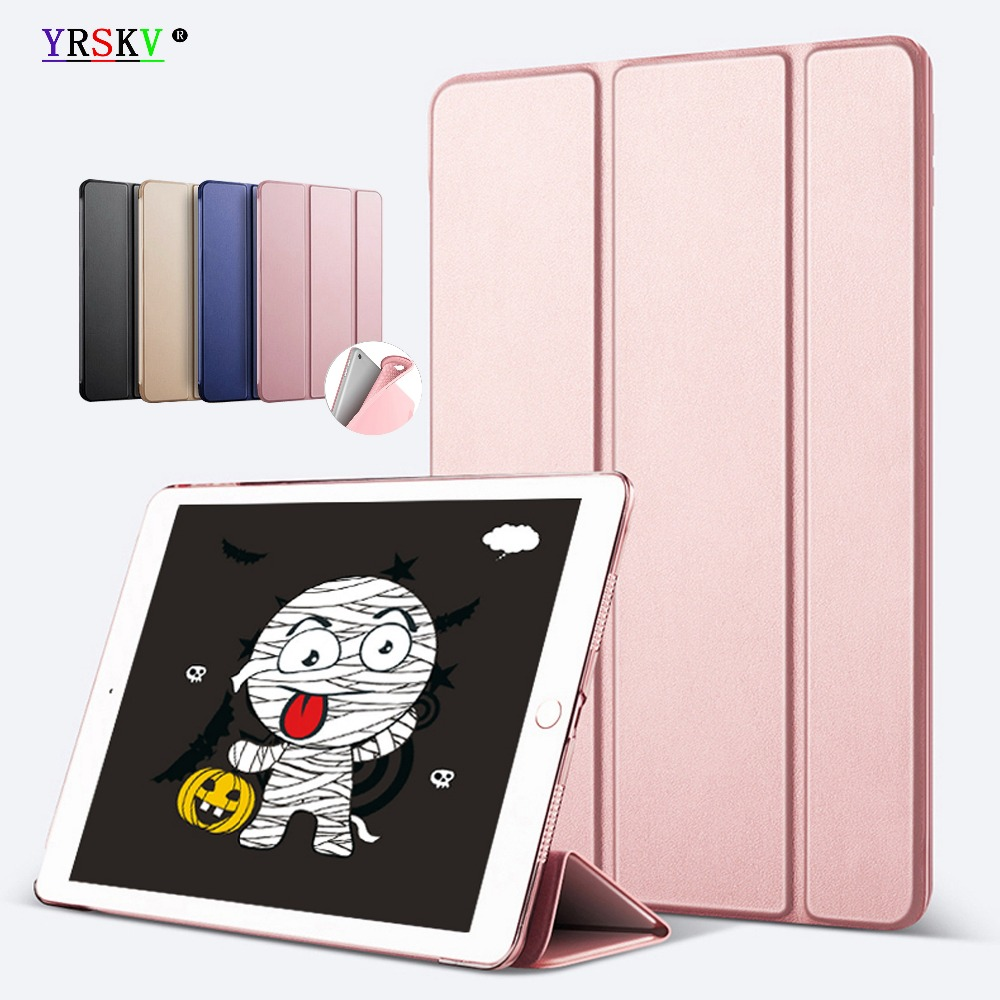 Case for Apple iPad 2 3 4 YRSKV intelligent sleep wake up PU leather cover + TPU soft silicone shell 2011 to 2012 release