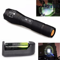 2 Types 5 Modes Zoomable XM L T6 LED Flashlight Torch 18650 Lamp Light Focus Wholesales