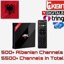 Italia Albanés IPTv H96 Pro + 3G/32G S912 Android 7.1 Países Bajos Portugal REINO UNIDO Francés Alemán Europa IPTV Suscripción Samrt tv Box