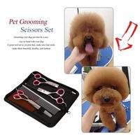 7 0 Inch Stainless Steel Pet Scissors Dog Grooming Scissors Set Cat Grooming Hair Cutting Scissors