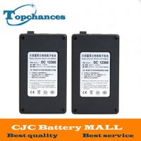 2X High Quality Newest Super Rechargeable Portable Lithium Ion Battery DC 12V 3000mAh DC12300 With Case