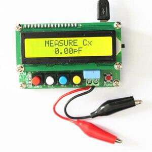 Цифровой ЖК-измеритель емкости, таблица индуктивности, тестер LC, частота 1pF-100mF 1uH-100H, LC100-A + тестовый зажим