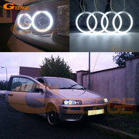 For FIAT PUNTO Mk2 1999 2000 2001 2002 2003 Headlight Excellent Ultra bright illumination CCFL Angel Eyes kit Halo Ring