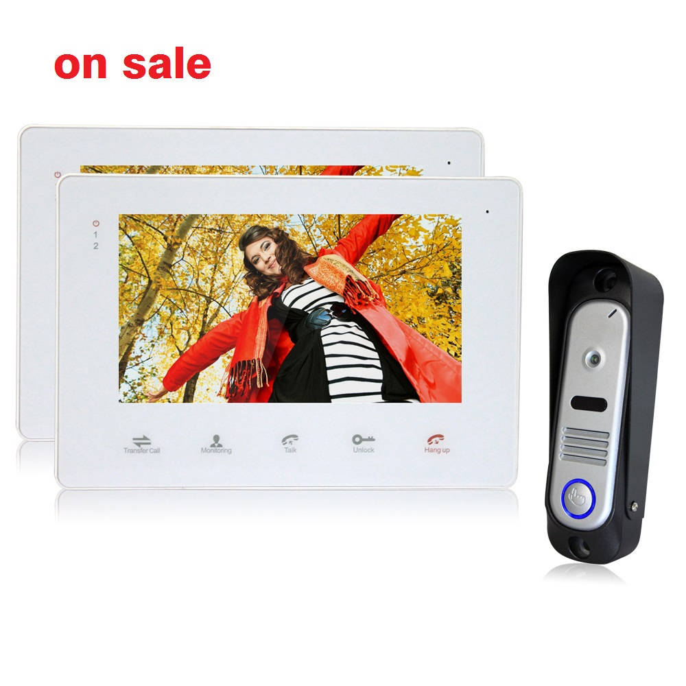 Homefong 7Inch Color LCD Video font b Door b font Phone Intercom System font b Door