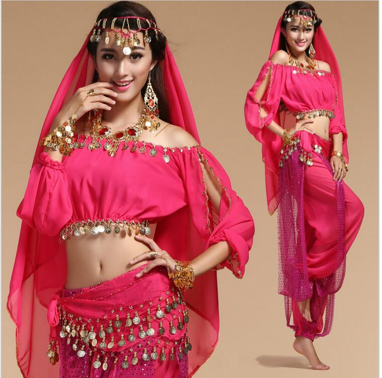 Stage Performance Woman Belly Dance Costume Bollywood