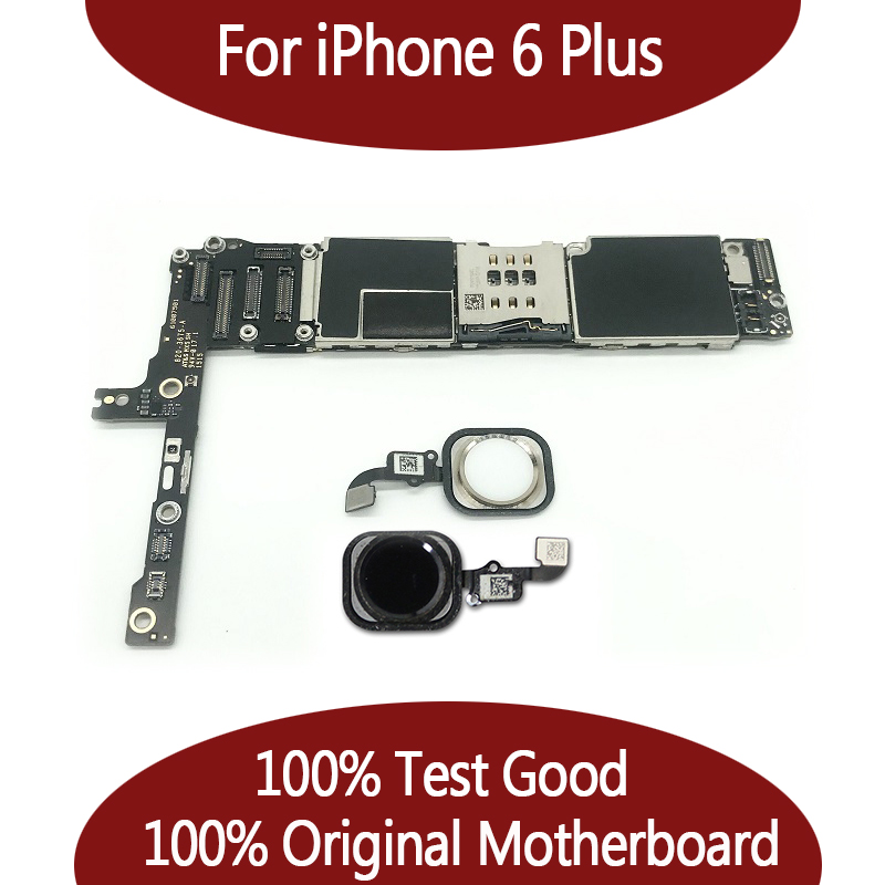 For iPhone 6 Plus Mainboard 100 Original Unlocked for iphone6 Plus Motherboard without Touch ID Function