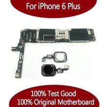IPhone 6 için artı anakart 100% orijinal Unlocked iphone6 artı anakart fonksiyonu iyi kalite mantık kurulu