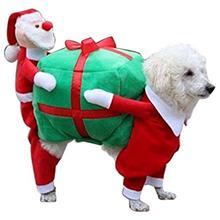 TPFOCUS класса люкс для домашних животных Одежда для собак на Рождество костюмы Забавный подарок Санта-Клауса Одежда для собак и щенков бархатное пальто, утепленное пальто, теплая зимняя одежда для домашних животных