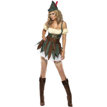 Chasing You Sexy Robin Hood Fancy Dress Party Western Wear Costume Women Jungle Dress Sexy Costume L1346