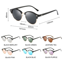 SIMPRECT 2019 Polarized Sunglasses Women Retro Round Mirror Driving Sun Glasses For Men Brand Designer Vintage Zonnebril Dames