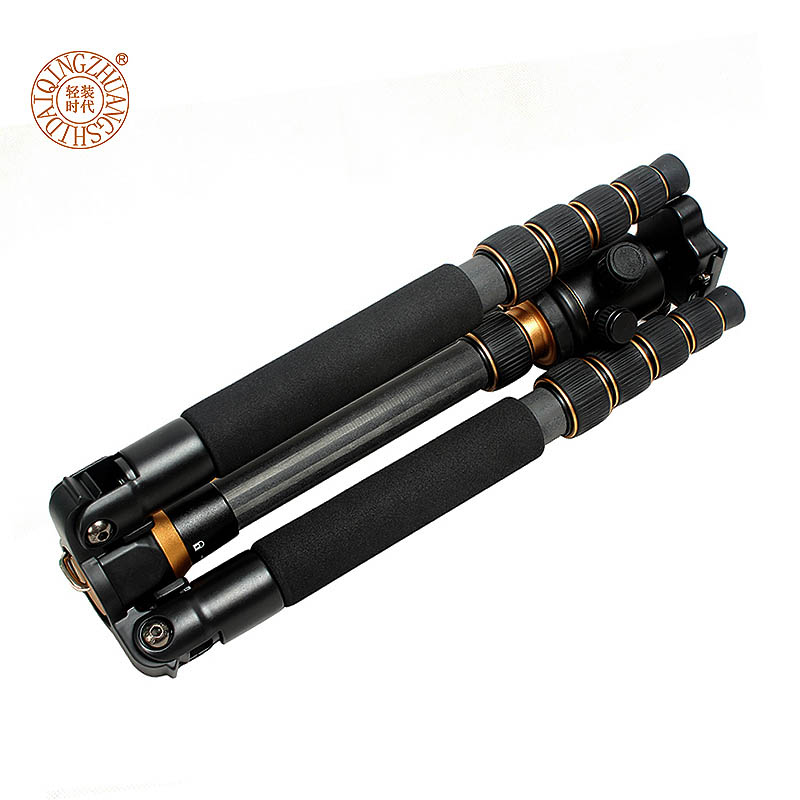 QZSD Q777C Professional Carbon Fiber Tripod Monopod Ball Head Tripod Portable Travel Photo Tripod for Digital