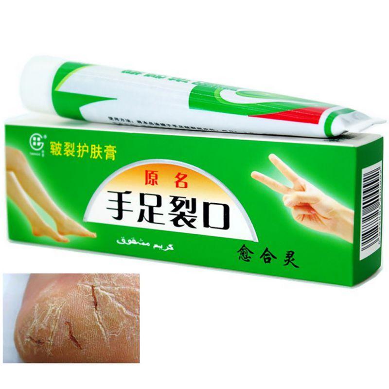 יד כף הרגל קראק קרם עקבים Chapped פילינג כף יד תיקון Anti Anti Crack העור טיפול סינית מרפא משחה קרם