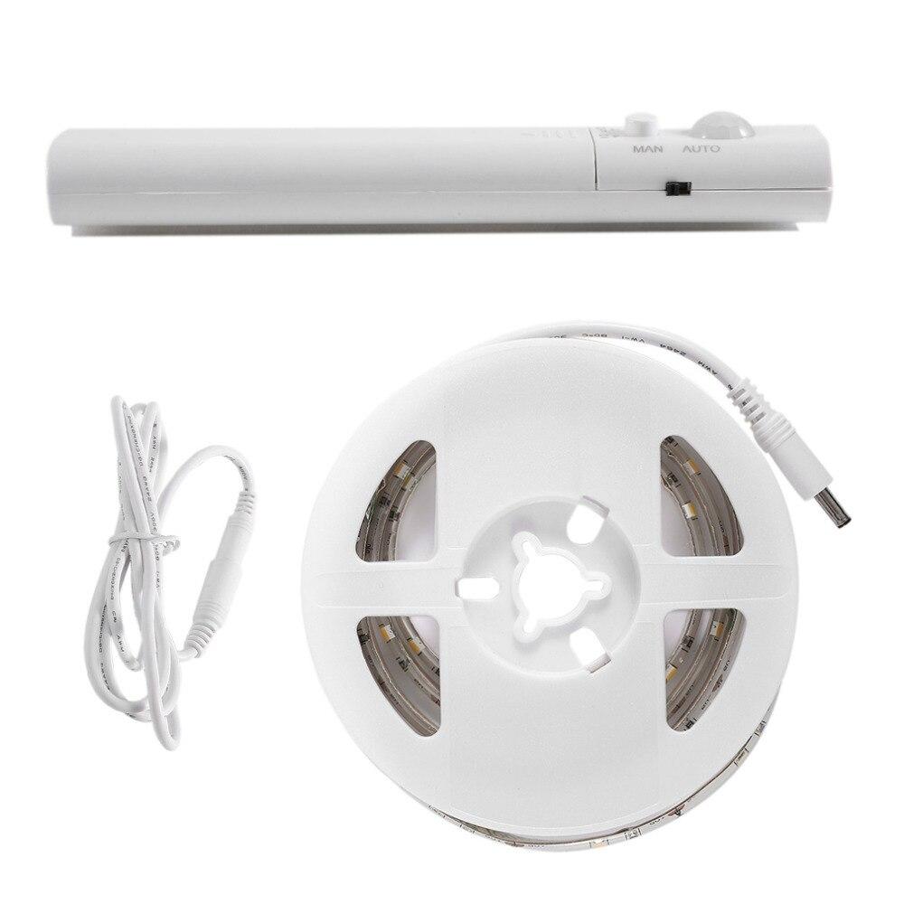 Новые 1 м 30 светодиодный Водонепроницаемый светодиодный движения Сенсор полосы света нейтральный белый/теплый белый человека Средства ухо...