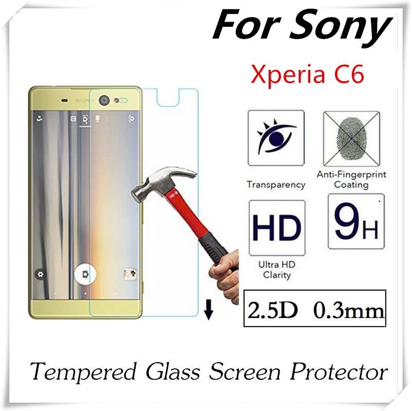 bilder für 20 stücke 2.5D Gehärtetem Glas Für Sony Xperia C6 Glas-schirm-schutz Ex-schutz Anti-Shatter Schutzfolie