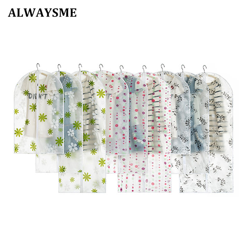 ALWAYSME Home Storage Protect Cover Travel Bag For Garment Suit Dress Clothes Foldable Suit Cover Clothes Storage Zipper Bag