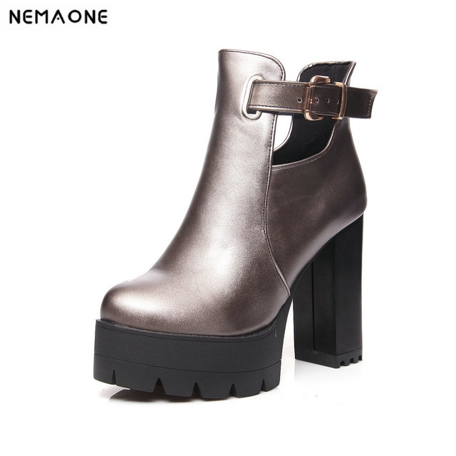 4dacfdadd6fc48 2019 women fashion spring autumn women boots Ladies women shoes suitable  for a casual dinner party it`s black white pink and gun