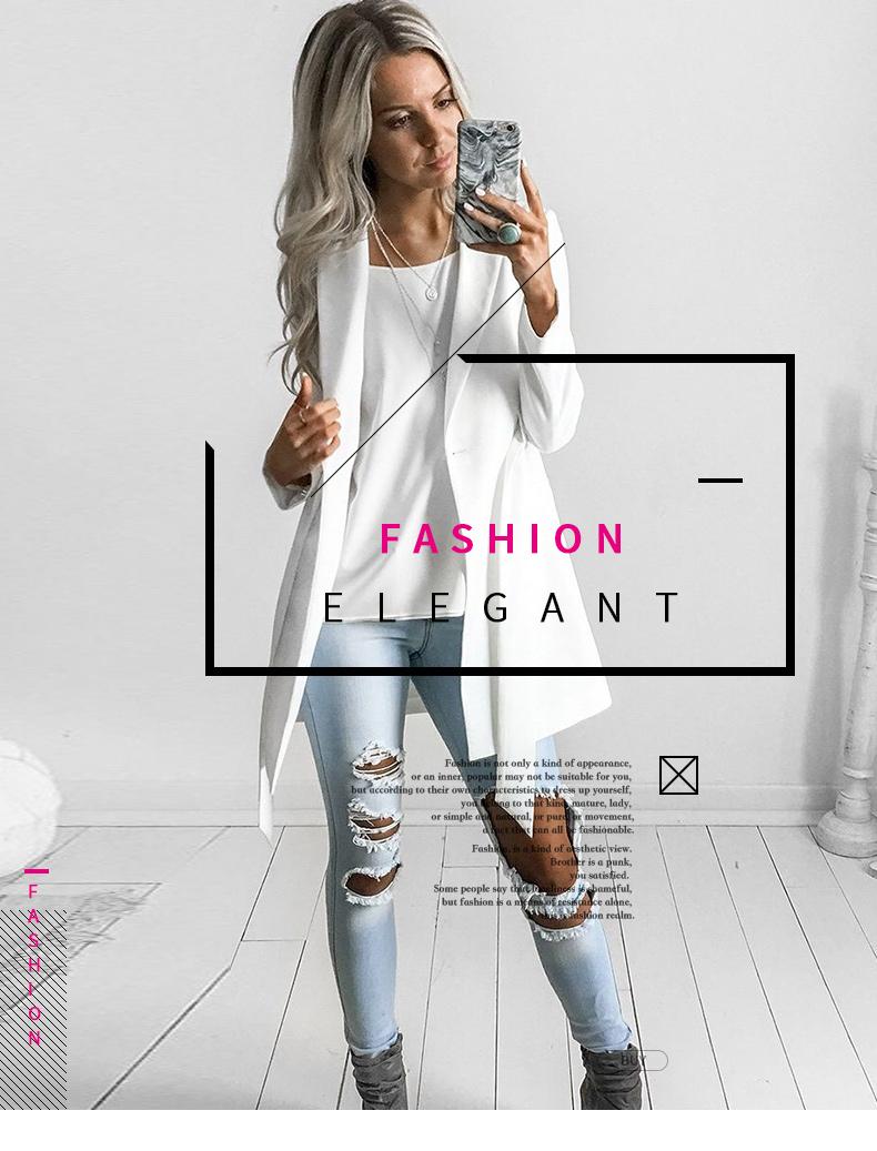 RichLuLu Bialy Blazer Kobiety Odzież Belt Biuro Panie Długi Rękaw Elegancka Kurtka Kobiet Głęboki Dekolt Blazer Cardigans 9