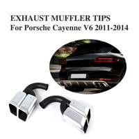 Stainless Steel Exhaust End Pipes Auto Accessories Mufflers For Cayen Ne Fits For 11 13 Cayenne