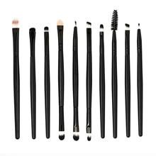 10pcs/set Makeup Brush Set tools Make-up Toiletry Kit Wool Make Up Brush Set Blending  Cosmetic Brush      5.9DJL