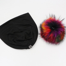 GZHILOVINGL Spring Winter Solid Color Skullies And Beanies Women 2016 Ins Hot Slouchy Womens Beanies Hat Colored Fur Pom Pom Hat