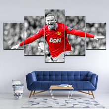 Wayne Rooney Wallpaper 2018 5 Pieces Wall Art Painting Modular Canvas Sport Wallpapers Poster Print Home Decor