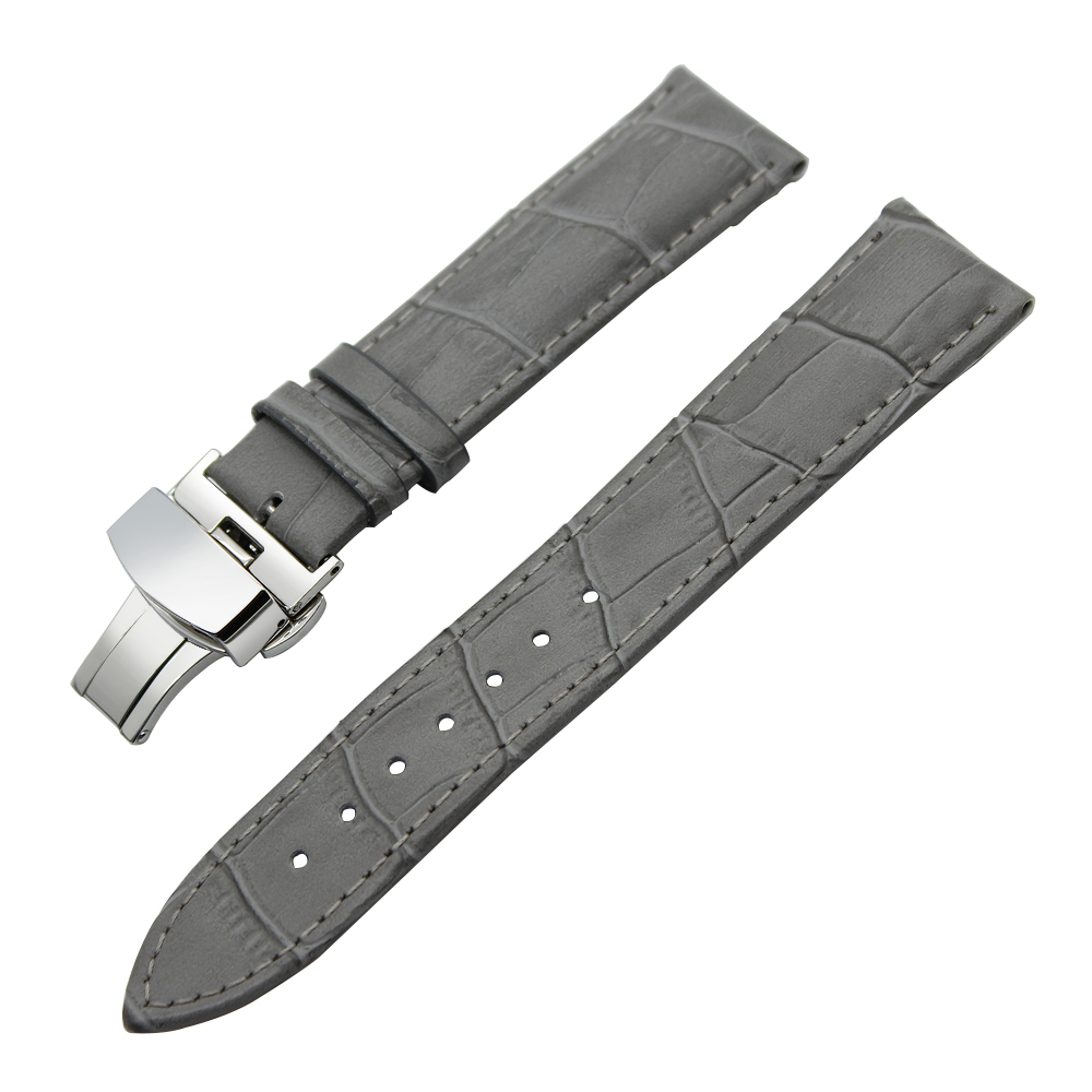 Image 4 - 14/16/18/19/20/21/22/23/24mm Genuine Leather Watch Band for Frederique Constant Stainless Steel Buckle Strap Wrist Belt Bracelet-in Watchbands from Watches