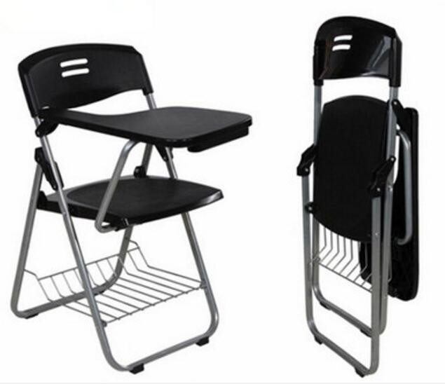High quality Folding Office Chairs Conference Chairs Writing Chair with Wordpad and book holder stadium chairs