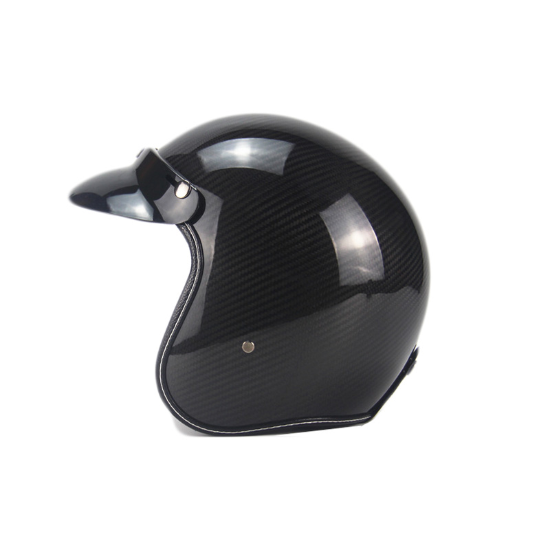 Carbon Fiber Motorcycle Helmet Unisex Man Women 3/4 open Face Retro Helmets Vintage Scooter Jet Helmet Pare Moto Cascos Para gxt dot approved harley motorcycle helmet retro casco moto cascos dirt bike open face vintage downhill helmets for women and men
