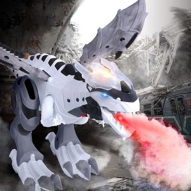 Andando Dinossauro de Brinquedo Dragão Cuspidor de Fogo Spray de Água Presente de Natal Presentes de Natal Engraçado zabawki