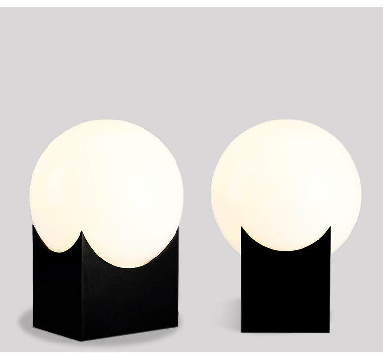 Glas Gold Tisch Lampe Kreative Büro Tisch Lampe Nordic Moderne Minimalistischen Post moderne tisch lampe Hause Schlafzimmer Studie Zimmer - 2