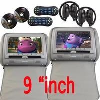 9Inch Digital Display Screen Headrest Car CD DVD Player Grey Monitor Dual Screen Car Headrest Video